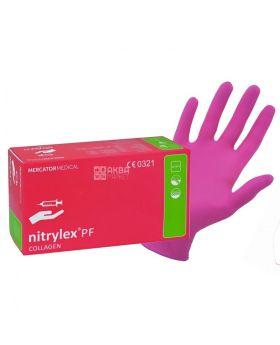 Ръкавици нитрилни с колаген, без талк, 100 бр., размер S